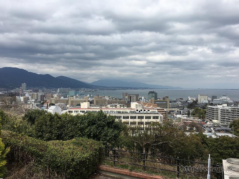 大津SAで琵琶湖を撮影
