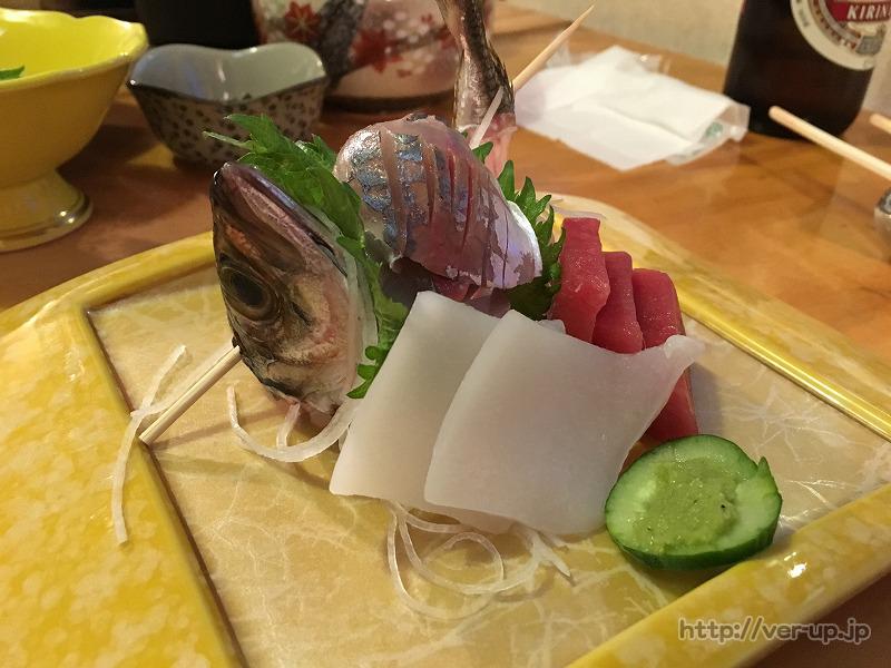 草津温泉 やまもとの晩御飯のお刺身