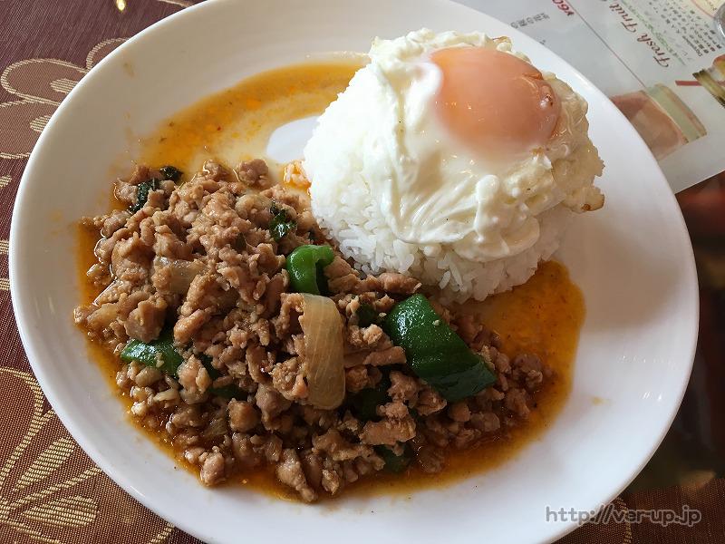インド料理/タイ料理のDippalace(ディップパレス)のガパオライス