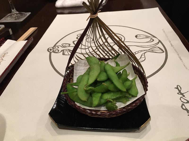 渋谷 神泉 うなぎ のいちのや「枝豆」