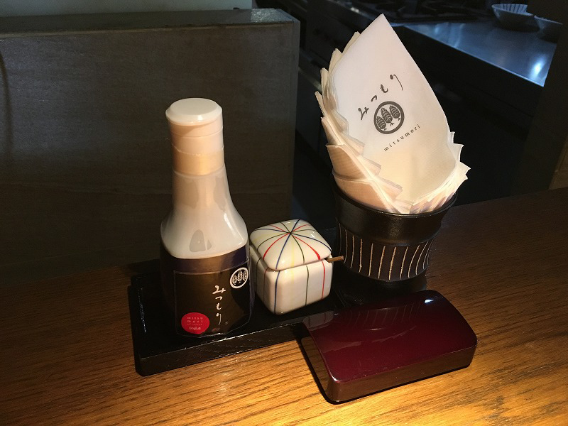 タイ バンコクの「みつもり」の醤油