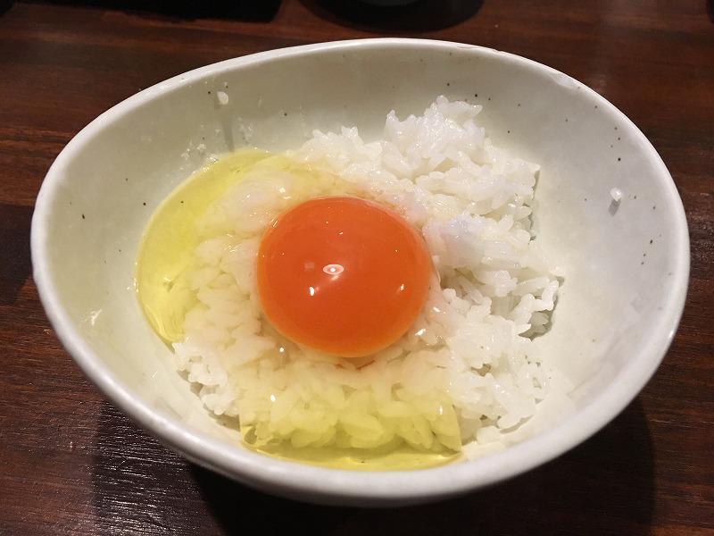 吉祥寺「肉山」玉子かけご飯