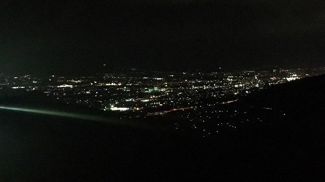 ほったらかし温泉からの夜景