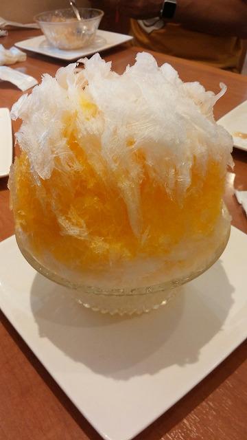 マユールのマンゴーミルクのかき氷