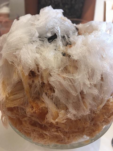 マユールのタピオカミルクティーのかき氷
