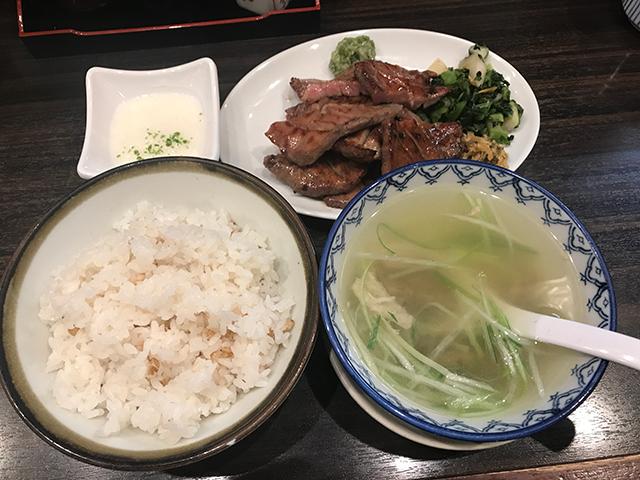 仙台の牛タン焼専門店 司の牛タン定食1.5人前