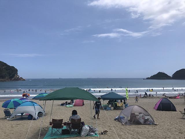 伊豆の弓ヶ浜ビーチ