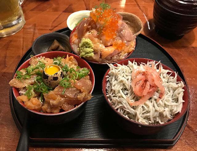 伊豆高原ビール 漁師の三種どんぶり膳