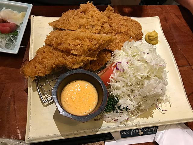 伊豆高原ビール 鮪カツと刺身ご膳